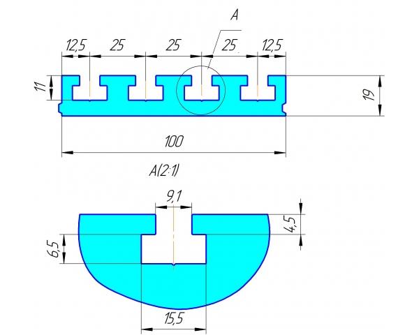 Стол А4, из алюминиевого Т-слота