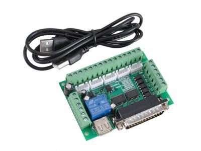 Опторазвязка (контроллер) LPT, 5 осей